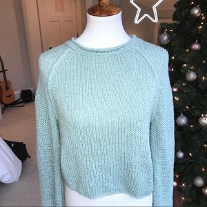 Light Blue Free People Sweater